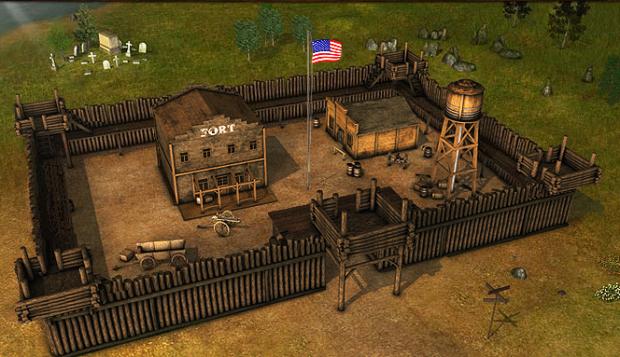 Fort z zwenątrz